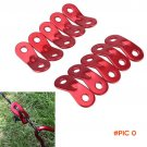 10Pcs Camping Tent Guy Rope Line Bent Aluminum Alloy Runners Fastener Awning BC1212