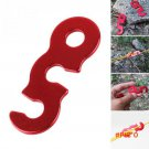 Good Quality S/L Outdoor Camping Red Aluminum Tent Wind Rope Stopper Adjust Buckles 3 Holes BC1273