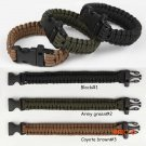 Outdoor Camping Men Self-Rescue Paracord Parachute Cord Bracelets Emergency Survival Rope