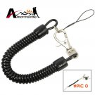 2pcs/lot Tactical Retractable Plastic Spring Elastic Rope Anti-lost Phone Keychain Securit