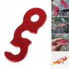 1Pcs Outdoor Camping Red Aluminum Tent Wind Rope Stopper Adjust Buckles 3 Holes S L BC1419