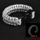 1pcs Military Tactical Hunting Camping Paracord Whistle Survival Bracelet Braided Rope Ref