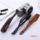1pcs Outdoor Camping Travel Camera PU Leather Wrist Hand Grip Strap Lanyard for Nikon Olym