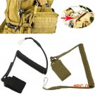 EDC Camping Equipment Tactical Elastic Stretching Rope Anti-theft Keychain Buckle Outdoor