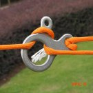 5pcs Stainless Steel Quick Knot Tent Wind Rope Buckle 3 hole Antislip Camping Hiking Tight