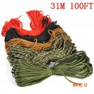 (5colors)Parachute Cord Lanyard Rope Mil Spec Type Strand 7Strand 100FT 31m Climbing Campi