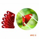 1Pc New Size L M S Portable Tent Wind Rope Triangular Buckle Camping Red Tent Cord Buckle