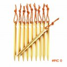 1lots/4pcs 18cm High Strength Aluminium Alloy Tent Peg Nail with Rope Camping Equipment Ou