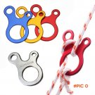 10pcs/lot Quick Knot Aluminum alloy Tent Wind Rope Buckle 3 hole Antislip Camping Hiking T