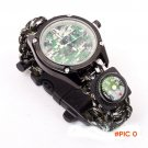 1pc ACU Camo Multicam Outdoor Camping Travel Kit Watch With Survival Flint Fire Starter Pa