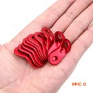 10Pcs Red Outdoor Camping Aluminum Alloy Cord Guyline Runners Rope Tensioners Tent Guy Lin