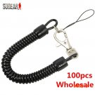 100 Pcs Wholesale Retractable Plastic Spring Elastic Rope Anti-lost Phone Keychain Securit