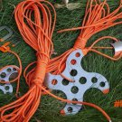 E0428 Rope Winder/Rapid Hanging Buckle/Anti-Skid buckle/Nail 5 Pieces Included for Outdoor