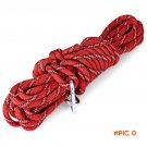 New 10m Red Travel Kits Rock Climbing Polyester Rope With Hook Dynamic For Outdoor Activit