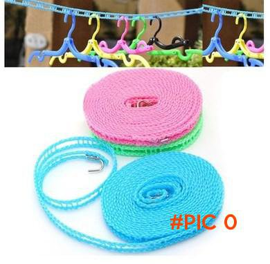 5M Windproof Anti-slid Clothesline Cloth Hang Rope For Outdoor Camping Travelling (random