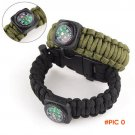 Outdoor Camping EDC Tool Paracord Survival Bracelet flint Ignition Equipment Rescue Rope S