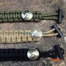 Camping Survival EDC Gear Outdoor Product Umbrella Rope Bracelet Edc With Magnesium Flint