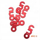 Free Shipping 10 pcs/lot Outdoor Camping Red Aluminum Tent Wind Rope Stopper Adjust Buckle