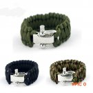 ParaCord Rope Outdoor Survival Bracelet Camping Steel Shackle Buckle Hot sale 3 color BC2055
