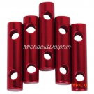 5pcs Red 7mm Alloy Cylinder Tent Guy Line Bent Runners Anti-slip Rope Tightner Camping Ten