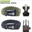 Outdoor Camping Survival Kit, Multifunctional Bracelet Safety Rope Paracord Buckles+Whistl
