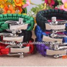Outdoor camping Survival bracelet Adjustable U type colorful optional quick-release rescue