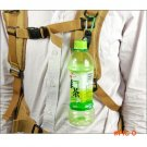 2016 New Outdoor Camping Aluminum Carabiner Water Bottle Rubber Holder Colorful Hiking Rop