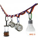 multifunctional camping tent rope lanyard colorful rainbow cup lamp hanging outdoor clothe