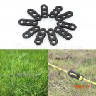 10Pcs/lot Camping Hiking Travel Tent Parachute Cord Rope Line Buckle Clip Tensioners 3 Hol