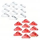 10Pcs Outdoor Camping Aluminum Alloy Triangle Tent Stopper Cord Guy Line Runners Rope Tens