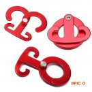 3pcs Aluminum Alloy Carabiner Outdoor T-Shape Self-Locking Hanging Hook Traveling Camping