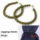 2pcs/lot Outdoor Camping Leggings Rope Belt Elastic Rope Bike Riding Leggings elastic Stra