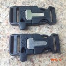 3 in1 Whistle Buckle with Fire Starter Flint for Outdoor Survival Rope Bracelet Lock Clip