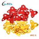 10Pcs 8mm Triangle Outdoor Tent Stopper Camping Aluminum Alloy Cord Guy Line Runners Rope