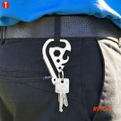 5PCS/LOT outdoor camping EDC tool, multi functional keychain, saw, rope cutter, bottle ope