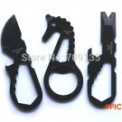 2PCS/LOT Outdoor multifunctional Camping Knife EDC portable tool bottle opener rope cutter