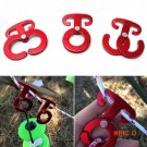 3pcs/set Aluminum Alloy Carabiner Outdoor T-Shape Self-Locking Hanging Hook Traveling Camp