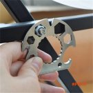 Outdoor Multi Function Card EDC Multi Tools Screwdriver Hex Wrenches Bottle Opener Rope Cu