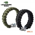 UDARNIK ParaCord Rope Outdoor Survival Bracelet Camping Steel Shackle Buckle BC2408
