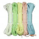 31M 550Lb Glow Luminous Parachute Cord 9 Strand Lanyard Rope Reflect Light in Dark for Kni