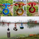 Rope hanger Buckles color Random Tent Pegs Camping Hiking Wind Ropes Engaging Pocket utili
