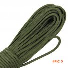 Outdoor Survival Paracord Utility Rope with 7 Nylon Braided Cord 100feet 250lb Hunting Hik