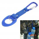 2016 New 1PCS Outdoor Camping Aluminum Carabiner Water Bottle Rubber Holder Hiking Rope Bu