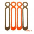 100pcs/lot EDC Gear Leggings Rope Binding Belt Food Grade Silicone High Elasticity EDC cam