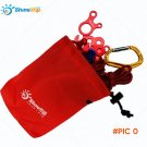 100pcs 16*14cm Shinetrip Storage Bag Outdoor Camp Hiking Wind Rope Buckle Bag Tent Wind St
