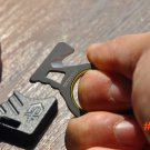EDC Rope Cutter Ring Tool Utility Knife Blade Stainless Steel Keychain Bottle Opener Outdo