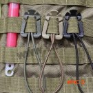 10PCS/LOT Strong Elastic Rope Buckles Fixed Clamp Camping Gear EDC Backpack Buckle Ribbon