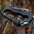 Survival Camping Hiking 5 in 1 Aluminum Climbing Carabiner Hiking Tool Rope Hook Gear Mult