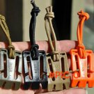 10PCS/LOT EDC Molle Buckles Webbing Strap Winder Dominator with Nylon Elastic Rope Backpac