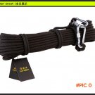 Outdoor 8mm Parachute Cord Paracord Black Rappelling Rope Climbing Safety Rope Lanyard Cli